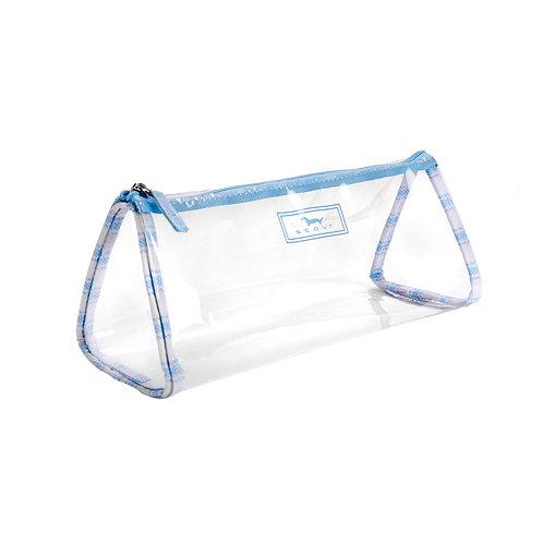 Scout Clear Pencil Bag-Blue Stripe