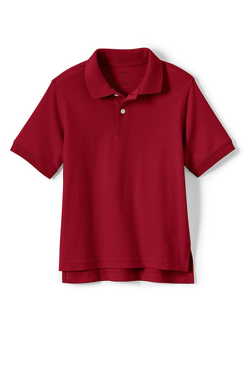 Polo-Lands End Red Soft-Weave