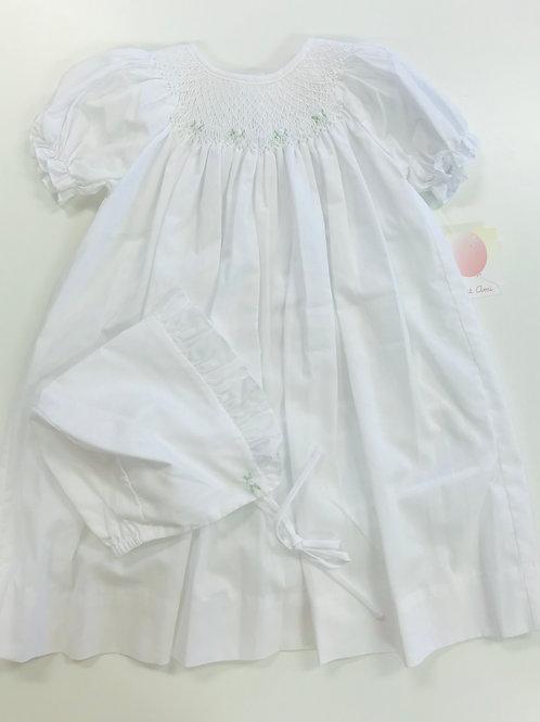 Petit Ami White Smocked Bishop Dress