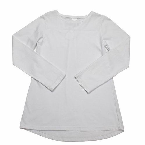 Set Athleisure White Knit Lindsay Shirt