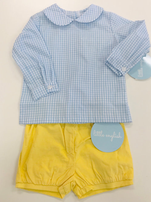 Little English Yellow Cord Banded Shorts