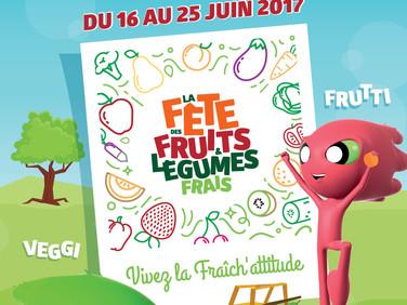 Fête des fruits et légumes du 16 au 25 juin 2017