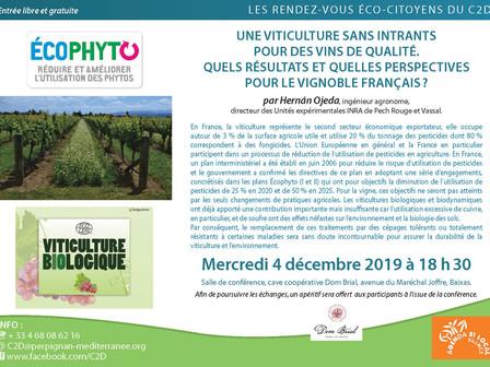 Conférence : Une viticulture sans intrants pour des vins de qualité...