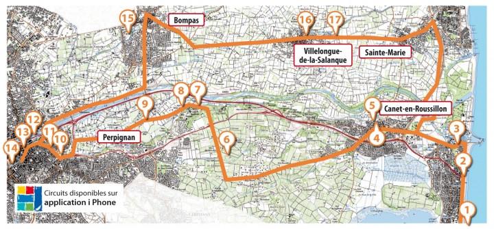 Circuit Touristique N 2 Canet Plage Perpignan Bompas Villelongue De La Salanque Sainte Mar