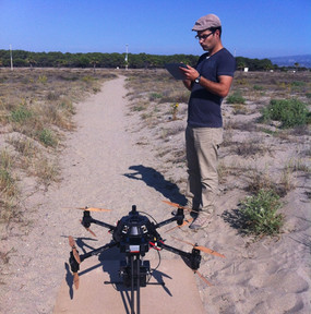Un drone pour surveiller l'érosion du littoral