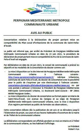 Saint-Féliu-d'Avall: volet urbanisme