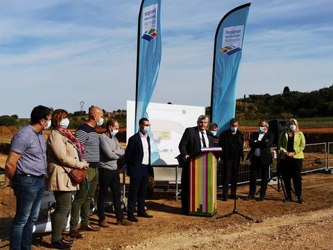 Une nouvelle potence agricole : aire de remplissage-rinçage de traitement à Baixas