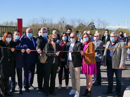 Inauguration de la plateforme de broyage de déchets verts à Bompas