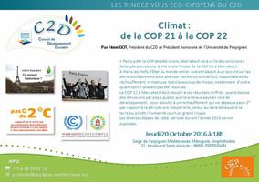 Climat : de la COP 21 à la COP 22