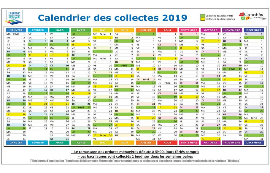 Calendrier Encombrants 77.Canohes Collecte Des Dechets