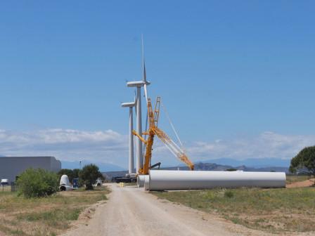 Lancement du chantier du parc éolien de Rivesaltes