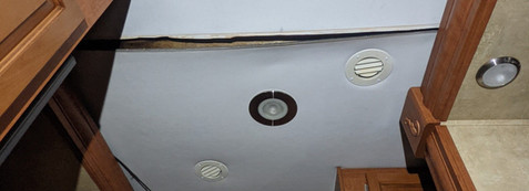 Interior roof falling in