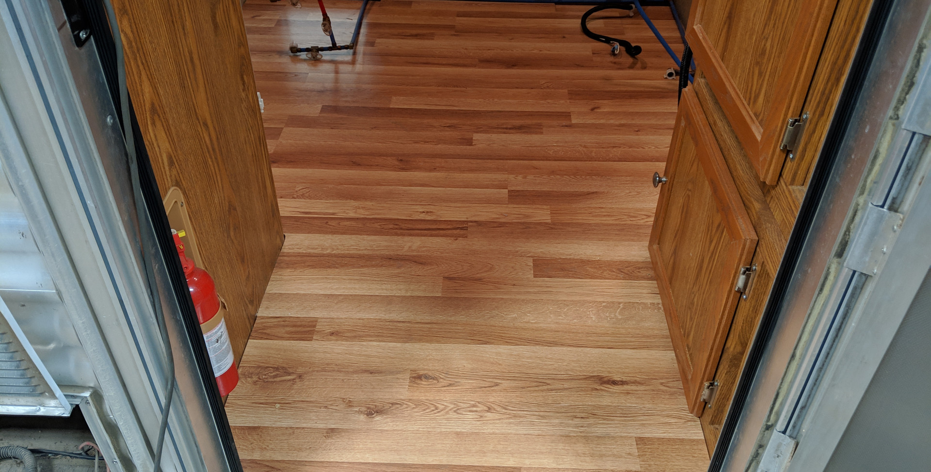 New raised flooring
