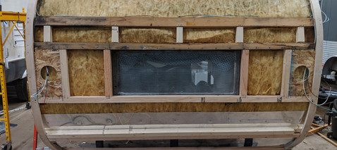 Rebuilt corners and wall, reinforced bottom secion