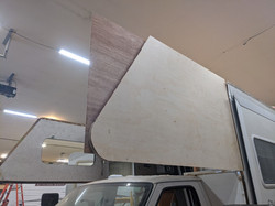 """New side wall with 1"""" foam core"""