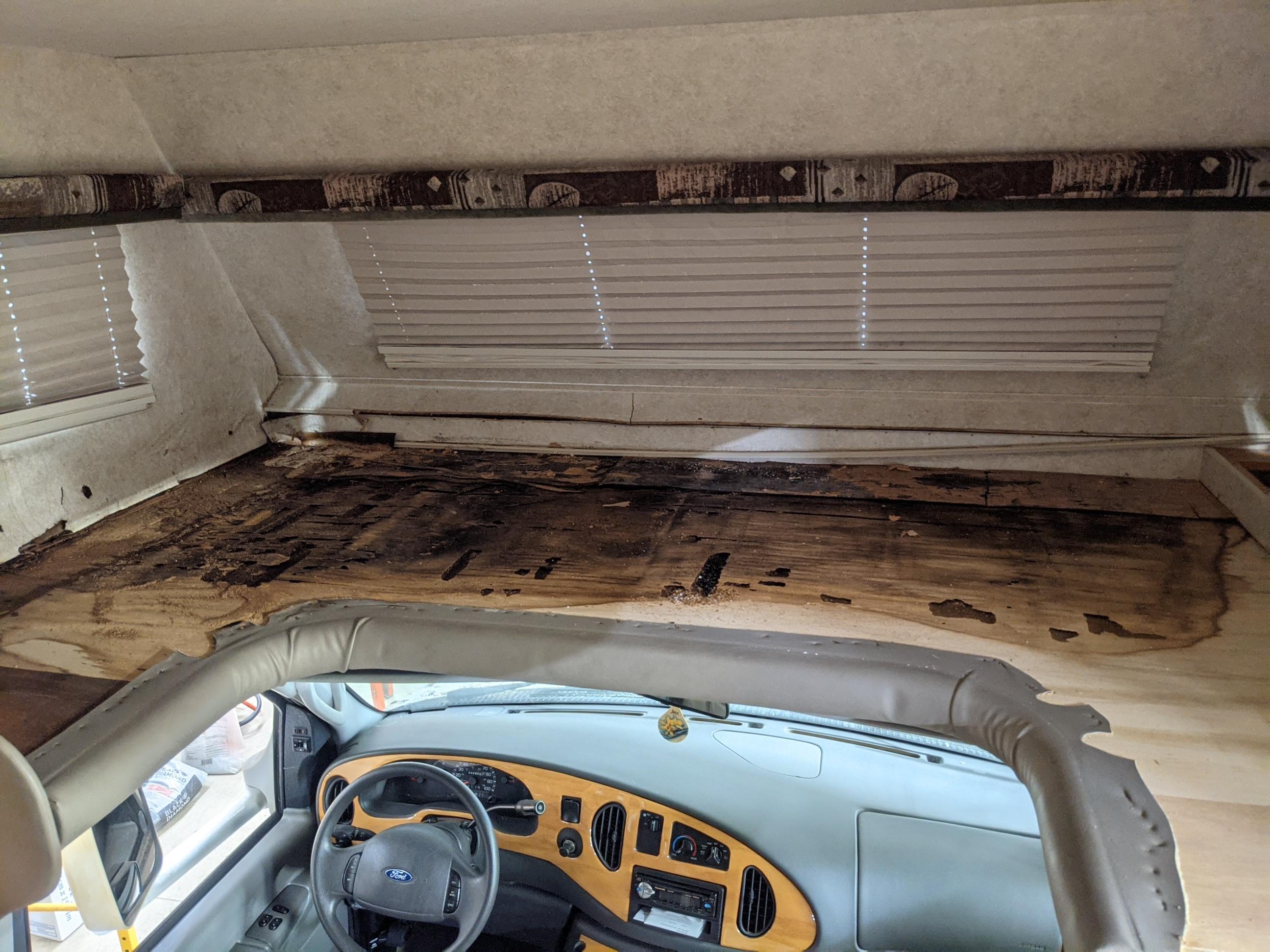 Interior front bunk