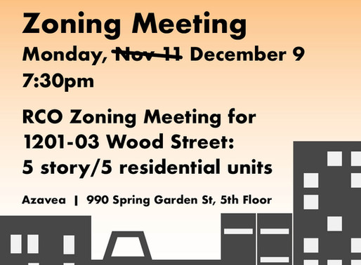 RCO Zoning Meeting for 1201-03 Wood Street