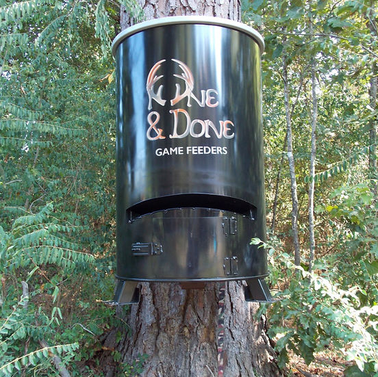 The best automatic deer feeder.  Only requires one 12v battery. Use for hunting or recreational feeding