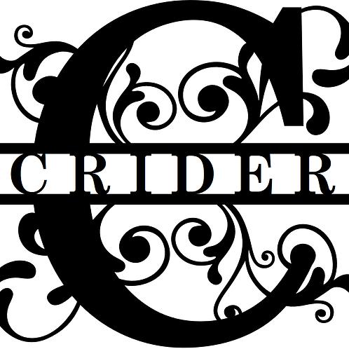 Custom Split-Monogram Letter
