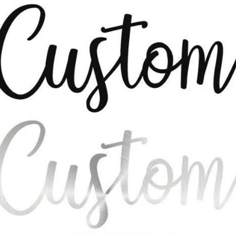 Custom Cursive Word