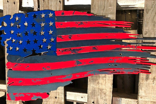 Distressed Painted American Flag