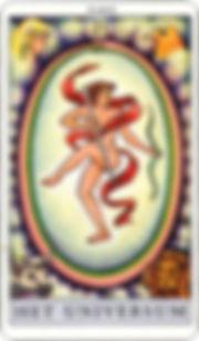 Tarotkaart-24-Het-Universum-21-grote-Arc