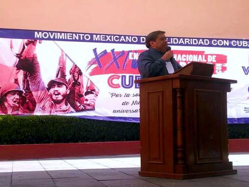 JESÚS ESCAMILLA Y EL MOVIMIENTO MEXICANO DE SOLIDARIDAD CON CUBA
