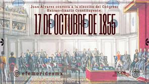 17 DE OCTUBRE 1855. CONVOCATORIA AL CONSTITUYENTE.