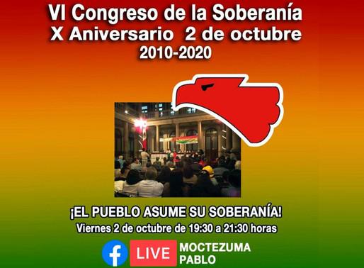 VI Congreso de la Soberanía en su X ANIVERSARIO