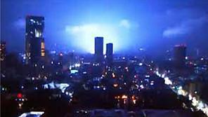 Las luces que se vieron durante el sismo