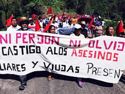 Libertad y justicia para sobrevivientes de la masacre de Aguas Blancas