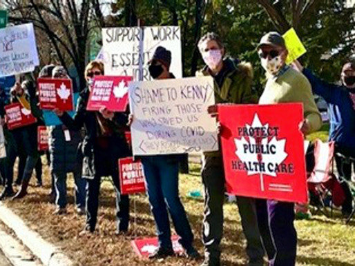 CANADÁ. Amplio apoyo a los trabajadores del hospital Alberta