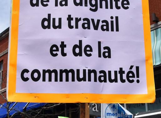 Canadá: Movimiento de la clase trabajadora por sus derechos y su dignidad