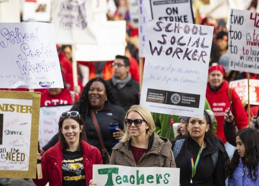 EU. La huelga de Chicago continúa a las de Oakland y Los Ángeles.