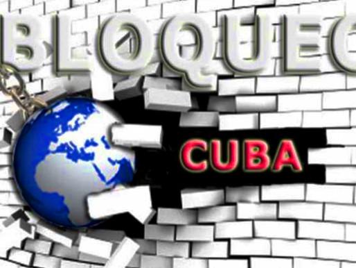 BASTA DE BLOQUEO A CUBA