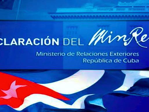 Cuba no le permite a Estados Unidos la injerencia en los asuntos internos