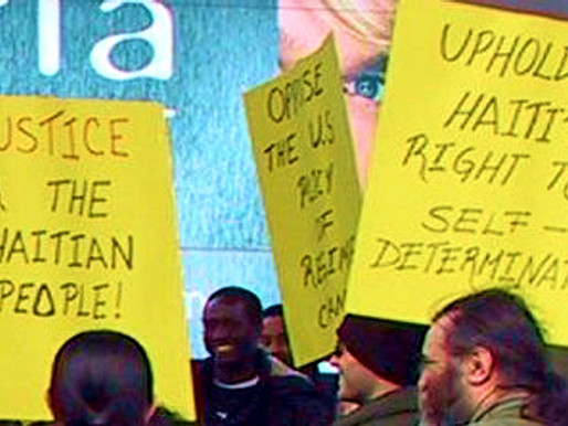 Haití. Apoyar el derecho de Haití a resolver la crisis sin intervención extranjera
