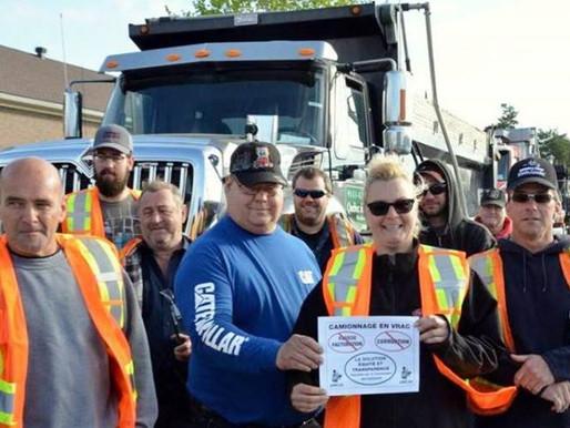 CANADÁ: Los trabajadores del sector del transporte se manifiestan.