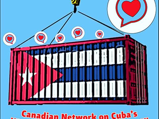 Red canadiense de solidaridad remitirá un envío significativo de suministros médicos a Cuba