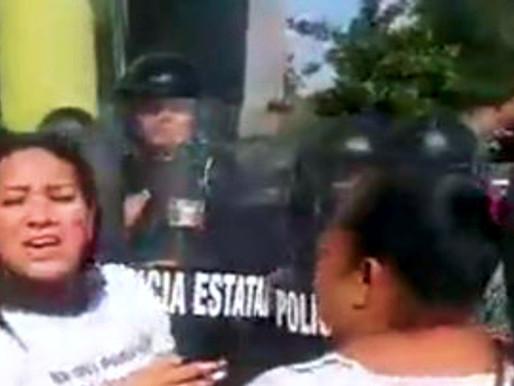 En Colima el gobernador dejó ver su cara fascista y violenta.