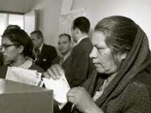 VOTO DE LA MUJER. 3 DE JULIO DE 1955 POR PRIMERA VEZ