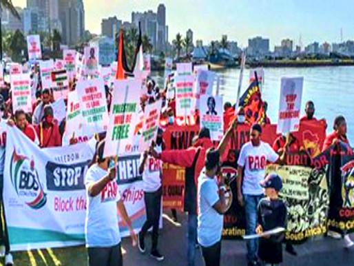 Trabajadores portuarios italianos y sudafricanos se niegan a descargar cargamento de barcos israelíe