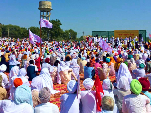 Rally de Agricultores, Trabajadores y Jóvenes de toda la India en Delhi el 26 de noviembre