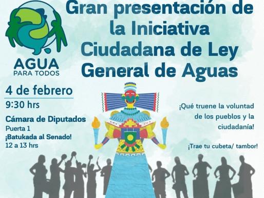 Presentarán la iniciativa ciudadana de Ley General de Aguas