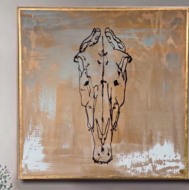 Gold Horse Skull - EvLinche