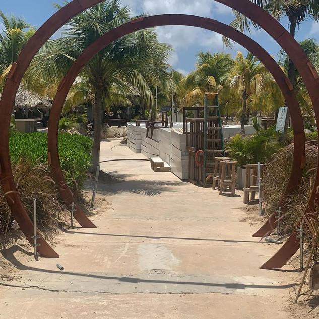 My hand made/ custom designed Entrance Gate at Mood Beach Curacao
