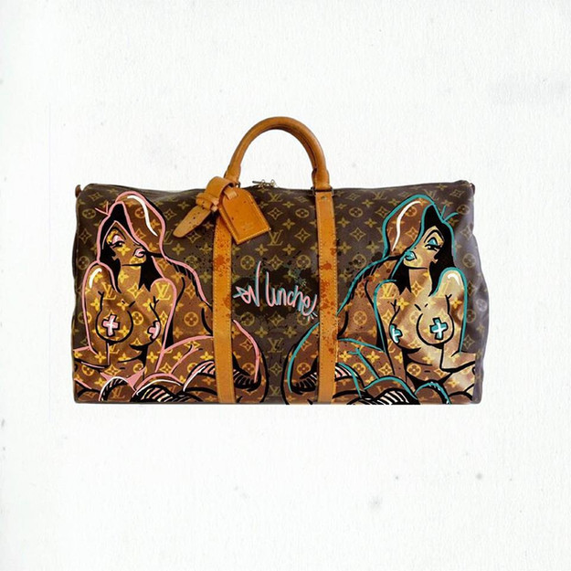 customized Louis Vuitton Keepall 55 bag