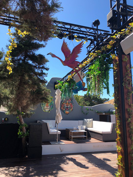 TROPICAL PARTY DECORATION @ BLUE MARLIN IBIZA