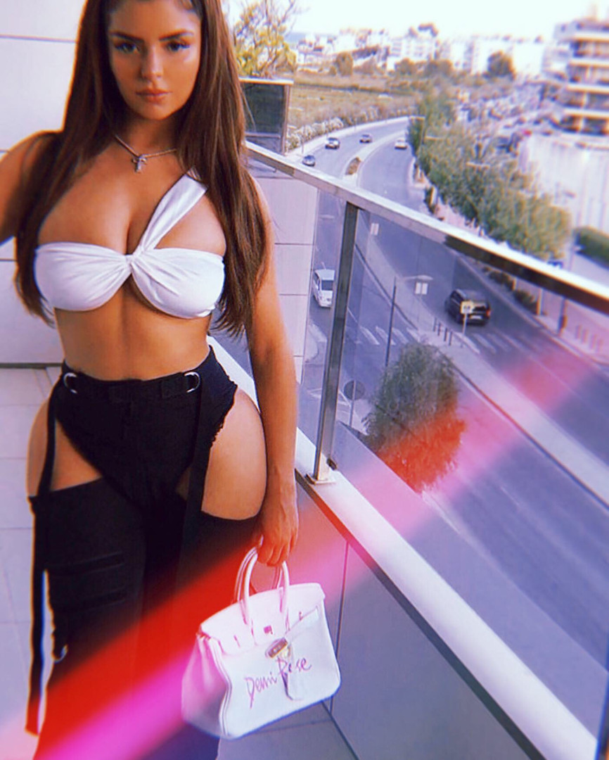 Demi Rose with customized bag