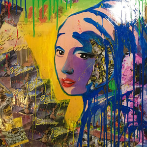 """""""The Girl with the Golden Earring"""" painting"""